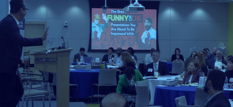 Brad Jenkins presenting at conference