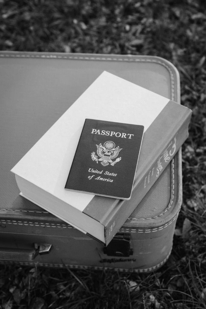 suitcase and passport