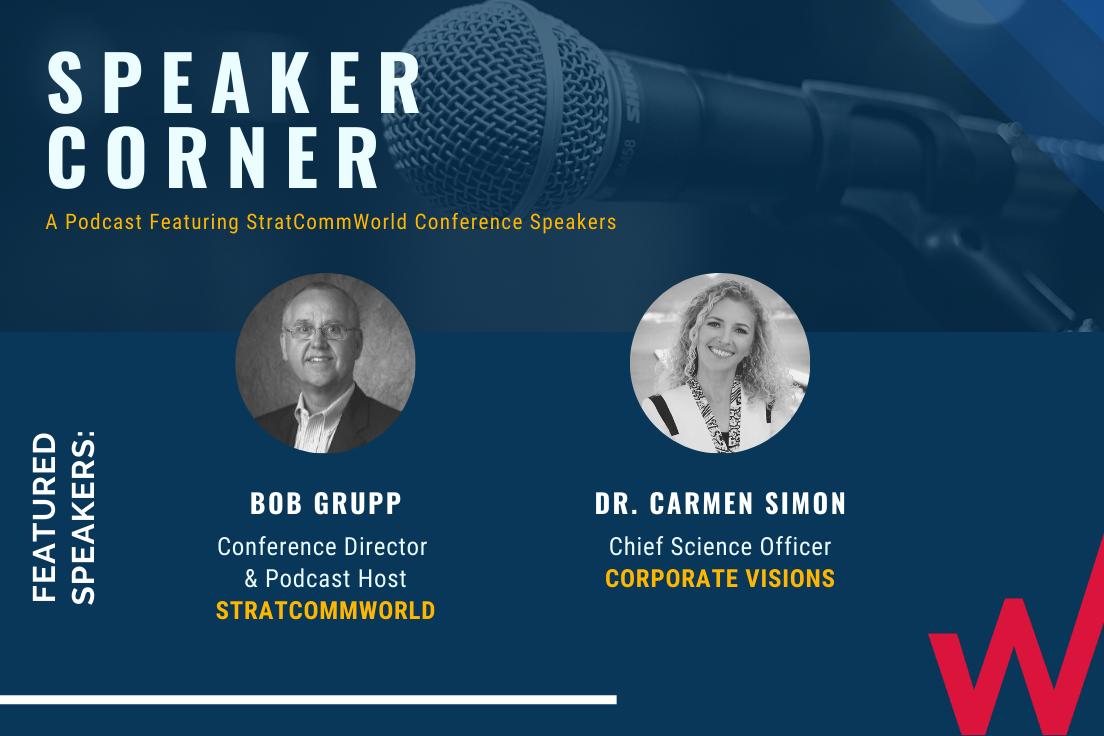 Carmen Simon Bob Grupp Speaker Corner Podcast